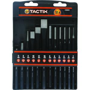 TACTIX - 12PC CHISEL & PUNCH SET