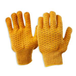 Criss Cross PVC Lattice Grip Glove on Poly/Cotton Liner