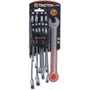 TACTIX - 9PC COMBINATION SPANNER SET - SAE