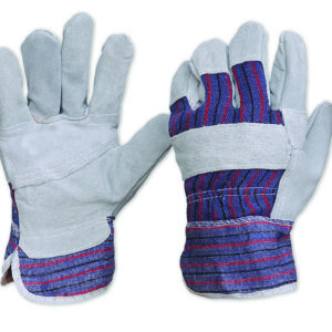 Candy Stripe Cotton Back Leather Glove