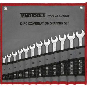 12PC ROE COMBINATION SPANNER SET IN WALLET- 8-19MM