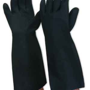 Black Latex Chemical Resistant Gauntlet Glove