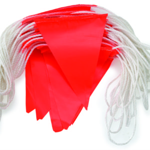 Orange Flag Bunting PVC Day Use 30m