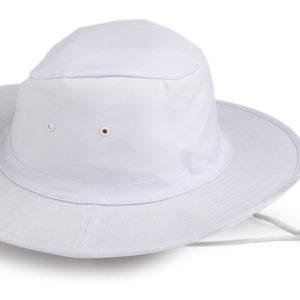 Poly / Cotton Sun Hat  (WHITE)