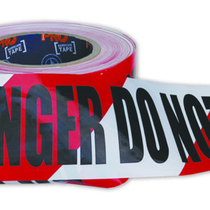 "Red and White ""DANGER DO NOT ENTER"" Hazard Tape 100m x 75mm"