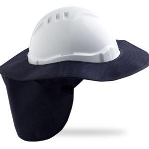 Detachable Hard Hat Brim - Blue