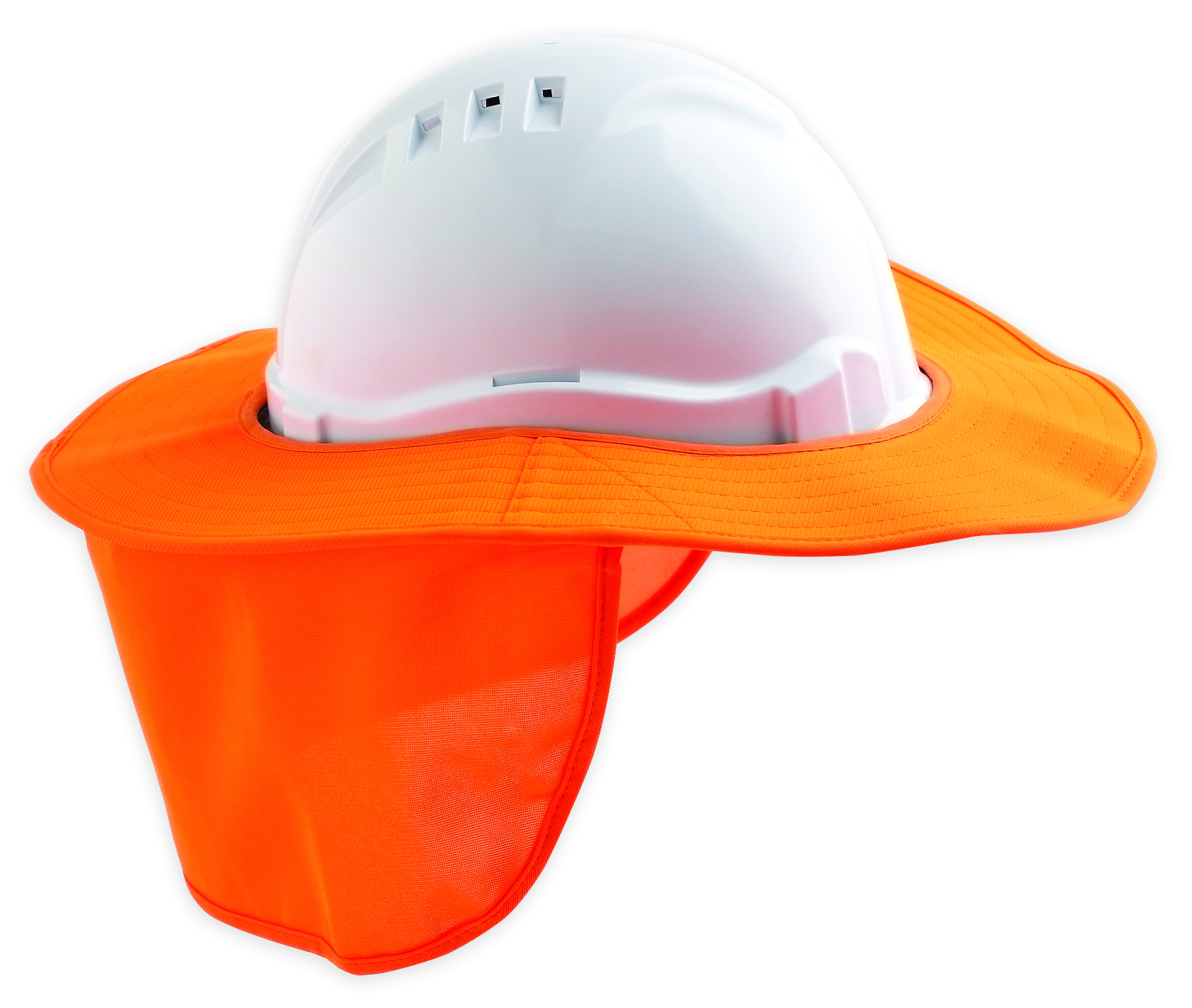 Detachable Hard Hat Brim - Orange