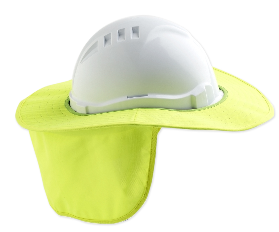 Detachable Hard Hat Brim - Fluoro Yellow