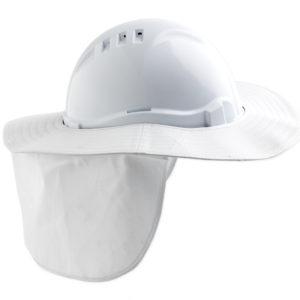 Detachable Hard Hat Brim - White
