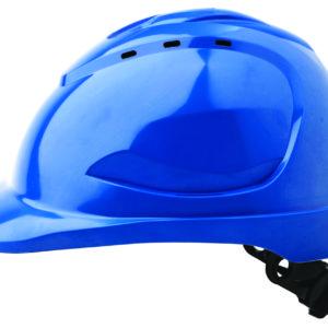 V9 Hard Hat with Ratchet Harness - Blue