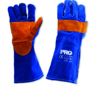 Blue and Gold Kevlar Welding Glove