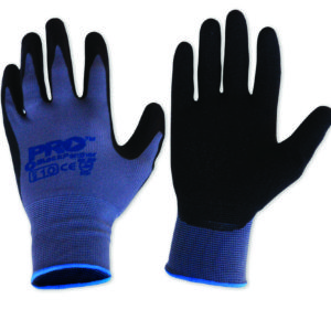Black Latex Glove with Nylon Liner