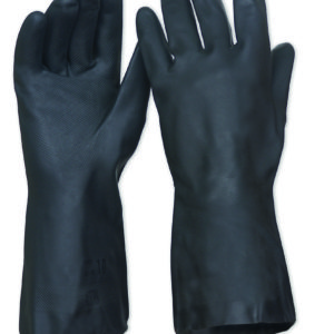 Black Neoprene Heavy Duty Chemical Resistant Glove