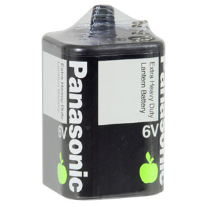 PANASONIC 6V BATTERY EXTRA HEAVY DUTY (1PK)