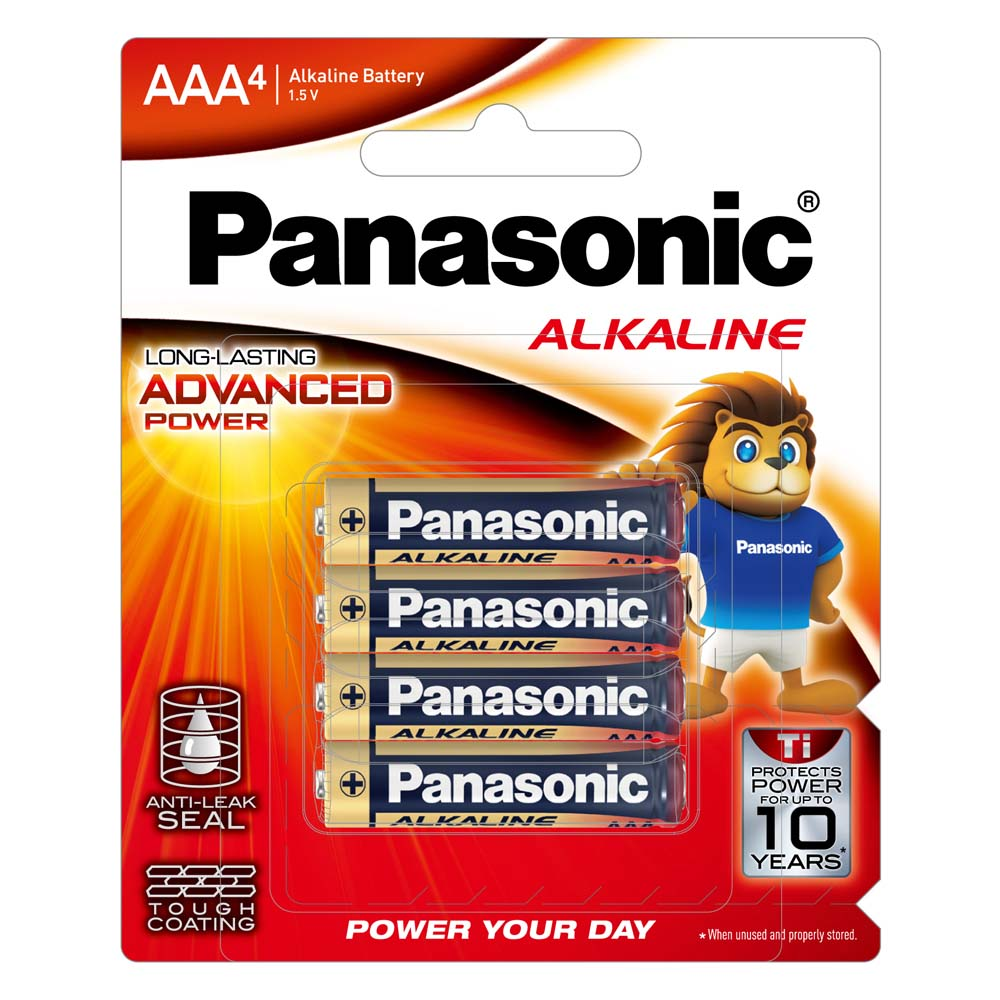 PANASONIC AAA BATTERY ALKALINE (4PK)