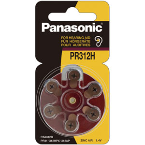 PANASONIC 1.4V PR41 ZINC AIR HEARING AID BATTERY