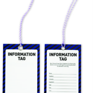 (Information Blank) Safety Tags 125mm x 75mm