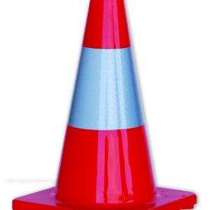 Orange Traffic Cone with Reflective Strip 450mm