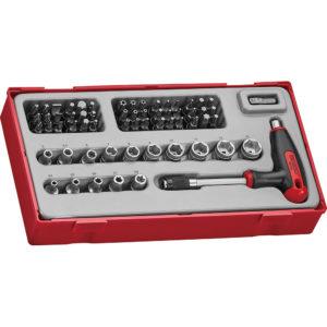 Teng 62pc T-Handle Socket & Bits Set - TC-Tray