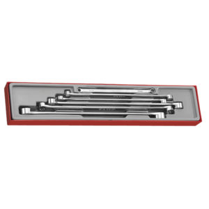 6PC FLAT EXTRA LONG RING SPANNER SET 8-24MM