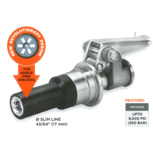 GROZ 17.0MM QUICK-LOCK GREASE COUPLER